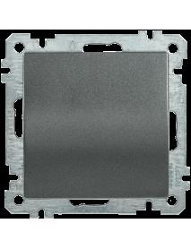 ВС10-1-0-Б Выключатель 1 клав. 10А BOLERO антрацит IEK