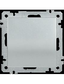 ВС10-1-0-Б Выключатель 1 клав. 10А BOLERO серебр. IEK