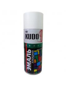 КУДO KU-1001 Эмаль аэрозольная универсальная белая глянцевая (0,52л)