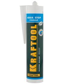 """Герметик силиконовый стекольный GX107 KRAFTOOL KRAFTSIL """"AQUA STOP"""" 41256-2"""