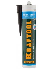 """Герметик силиконовый стекольный GX107 KRAFTOOL KRAFTSIL """"AQUA STOP"""" 41256-4"""