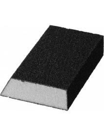 """Губка шлифовальная STAYER """"MASTER"""" угловая, зерно - оксид алюминия, Р80, 100 x 68 x 42 x 26 мм, средняя жесткость, 3561-080"""