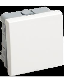 ВК4-21-00-П Выключатель проходной (переключатель) одноклавишный (на 2 модуля) ПРАЙМЕР белый IEK