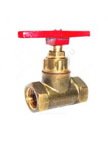 Клапан запорный латунь 15б1п Ду 15 Ру16 ВР прямой ТУ РБ 500059277.015-2000 Цветлит ZW20005