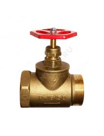 Клапан запорный латунь 15б1р Ду 50 Ру16 ВР/НР прямой ТУ РБ 500059277.015-2000 Цветлит ZW20022