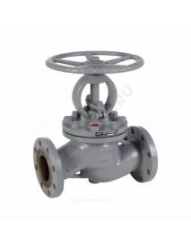 Клапан запорный сталь 15с22нж Ду 125 Ру40 Тмакс=425 оС фл Китай .