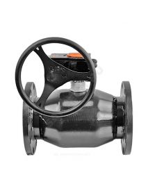 Кран шаровой сталь 11с67п Ду 125 Ру16 фл под редуктор FORTECA 183.0.125.016
