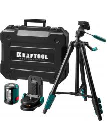 Лазерный уровень построитель плоскостей в наборе с держателем и штативом KRAFTOOL 34700-4