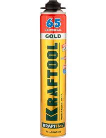 Пена монтажная пистолетная KRAFTOOL KraftFlex GOLD PRO 65 41194