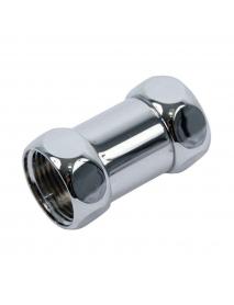 Монтажный комплект латунный хромированный для полотенцесушителя Ду 25-15 гайка-гайка прямой