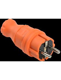 ВБп3-1-0м Вилка прямая ОМЕГА IP44 оранжевая IEK