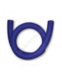 Шланг гофрированный ПЭ для PE-X Дн 25 для трубы Дн 16 синий бухта 50м Санпласт