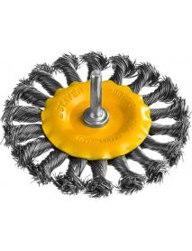 """Щетка STAYER """"PROFESSIONAL"""" дисковая со шпилькой, жгутированные пучки стальной проволоки 0,5мм, d=100мм, 35115-100"""