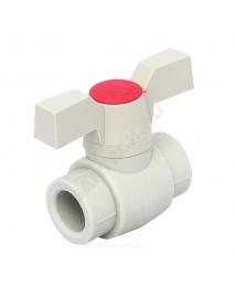 Кран PP-R шаровой серый внутренняя пайка Дн 40 FV Plast