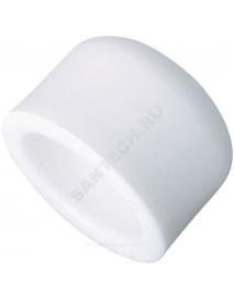 Заглушка (пробка) PP-R белая внутренняя пайка Дн 63 РосТурПласт 10553