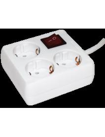Удлинитель У-С03К-выкл. 3 места 2P+PE/3метра 3х1мм2 16А/250 IEK