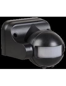 Датчик движения ДД 009 черный, макс. нагрузка 1100Вт, угол обзора 180град., дальность 12м, IP44, ИЭК