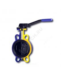 Затвор дисковый поворотный чугун 497B Ду 80 Ру16 межфл с рукояткой диск чугун манжета EPDM Zetkama 497B080C67